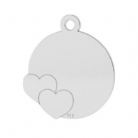 Sterling Silver Disc Pendant 15mm For Engraving